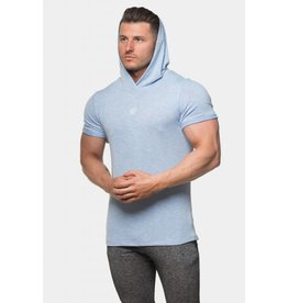 JED NORTH ELEMENT SHORT SLEEVE HOODIE - BLUE