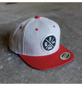 GORILA SNAPBACK - RED AND HEATHER