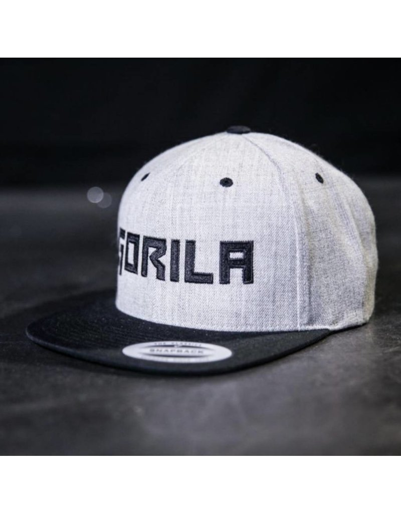 GORILA FITNESS GORILA SNAPBACK - HEATHER AND BLACK