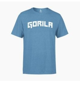 GORILA FITNESS GORILA YALE T-SHIRT - BLUE AND WHITE