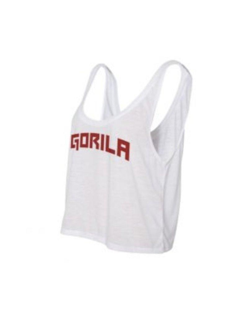 GORILA FITNESS GORILA YALE WOMEN'S FLOWY TANK - WHITE