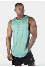 JED NORTH LUXE FLEX MUSCLE TEE VINTAGE, GREEN
