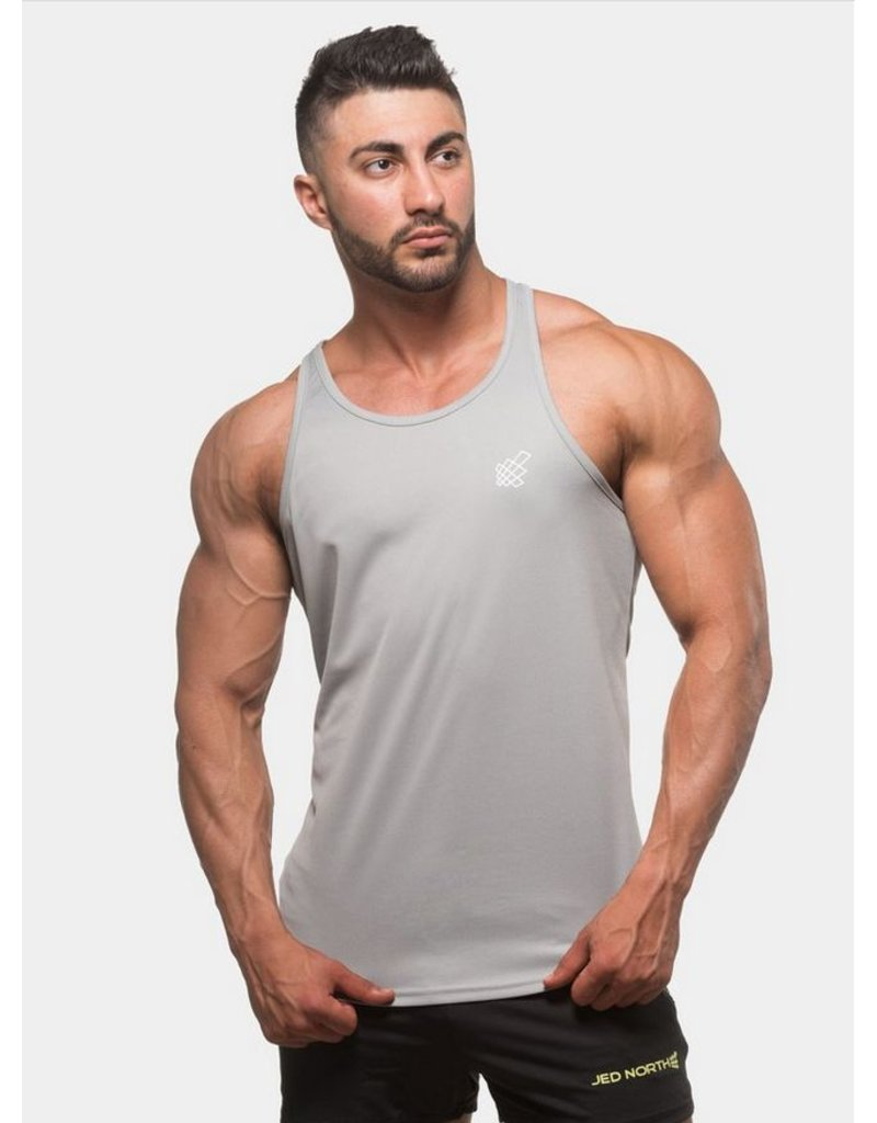 JED NORTH JED NORTH DRI FIT TANK TOP SILVER