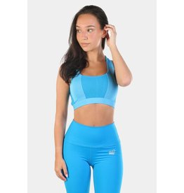 JED NORTH COBRA CROSSBACK SPORTS BRA - BLUE