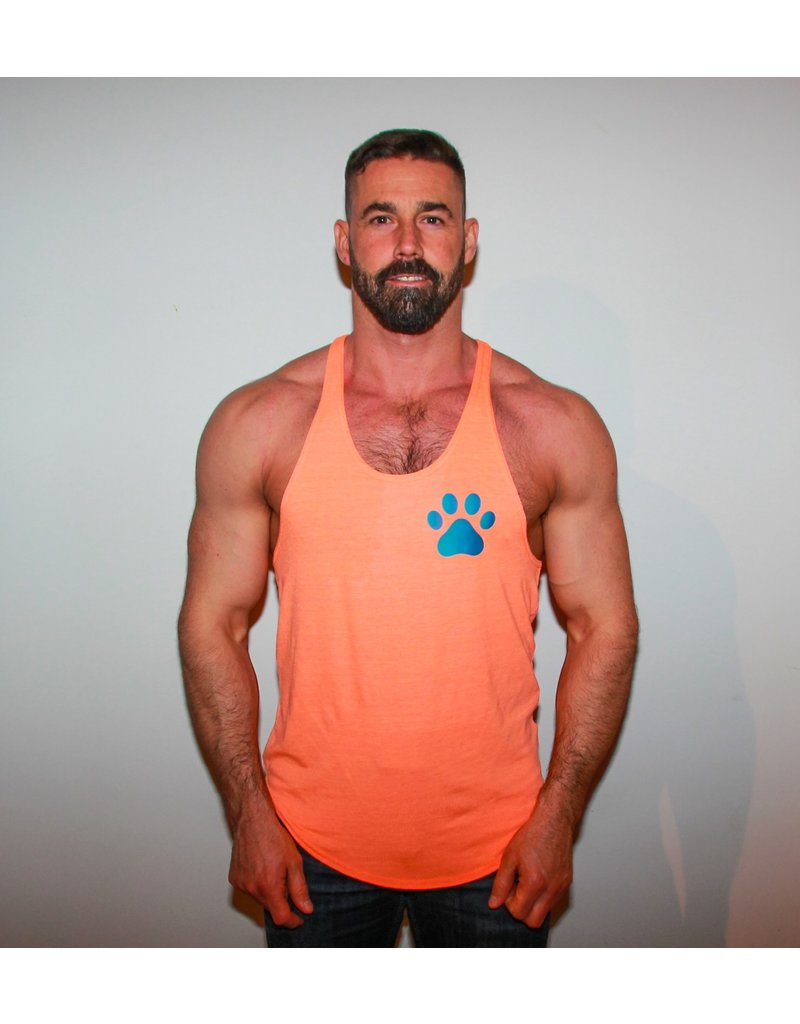 WODSPORTS WOD WOOF PAW TANK ORANGE/BLUE