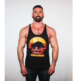 WODSPORTS SAVE THE CHUBBY UNICORN TANK BK