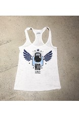 WODSPORTS WOD FLYING KETTELBELL WOMEN TANK WHITE