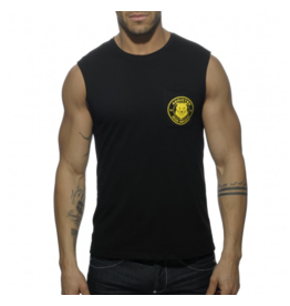 ADDICTED / ES COLLECTION AD SOCIETY BEARS POCKET TANK TOP C10
