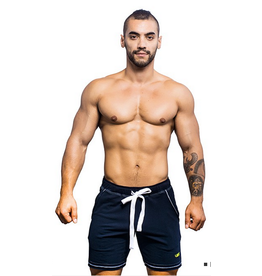 ANDREW CHRISTIAN AC VIBE TRAINING SHORTS NAVY