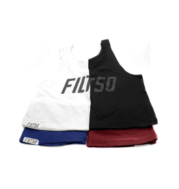 Filthy 50 FLTHY 50 BASIC BOXY CROP TANK - BLACK