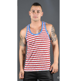 ANDREW CHRISTIAN AC STARS & STRIPES RACER BACK TANK