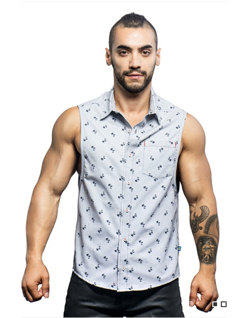 ANDREW CHRISTIAN AC CALIFORNIA BEACH SLEEVELESS SHIRT