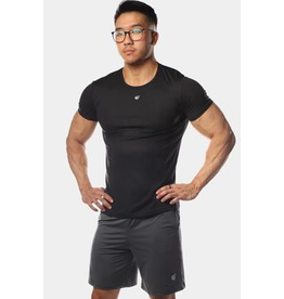 JED NORTH MICROFIBER DRI-FIT T-SHIRT BLACK