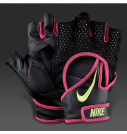 NIKE WOMEN'S PRO ELEVATE GLOVES 2.0  BK/PINK  SMALL
