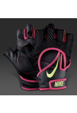 NIKE WOMEN'S PRO ELEVATE GLOVES 2.0  BK/PINK  X-SMALL