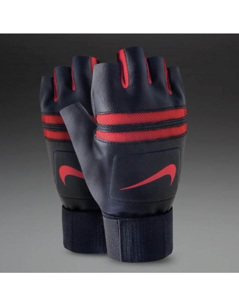 NIKE MEN'S K.O. TRAINING GLOVES BK/RED SMALL