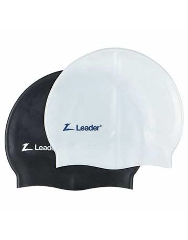 LEADER MEDLEY RACER SWIM CAP WHITE