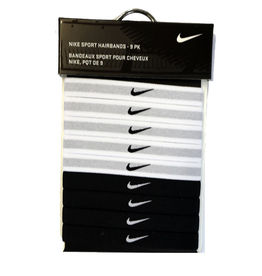 NIKE SPORT HAIRBAND 9PK BLACK/WHITE