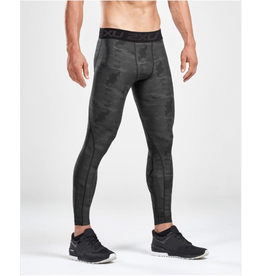 2XU 2XU Accelerate Print Compr Tights charcoal/nero