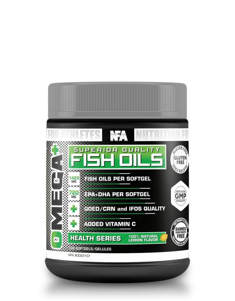 NFA NUTRITION FOR ATHLETES OMEGA+ FISH OILS 120 SOFTGELS