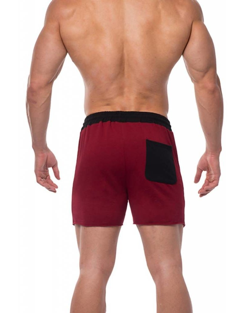 JED NORTH JED NORTH TITAN SWEAT SHORTS, RED