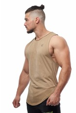 JED NORTH JED NORTH LUXE FLEX MUSCLE TEE VINTAGE, BROWN