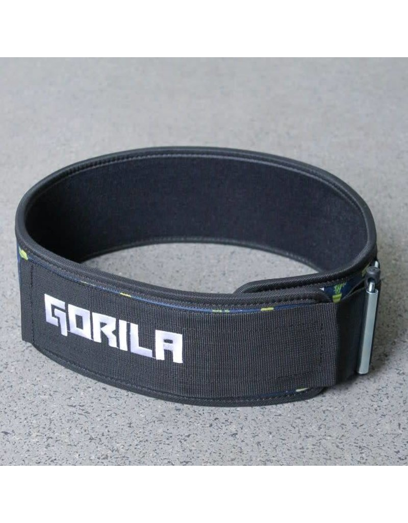 GORILA FITNESS GORILA WEIGHTLIFTING BELT 4'' - FUERTE NAVY & YELLOW