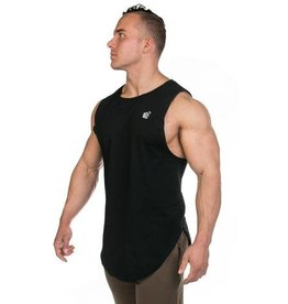 JED NORTH JED NORTH LUXE FLEX MUSCLE TEE VINTAGE, BLACK