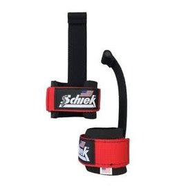 SCHIEK SCHIEK LIFTING STRAPS RED WITH LOCK-ON