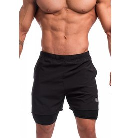 JED NORTH JED NORTH DEXTER FLOW PERFORMANCE SHORTS, BLACK