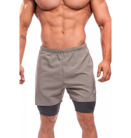 JED NORTH JED NORTH DEXTER FLOW PERFORMANCE SHORTS GREY
