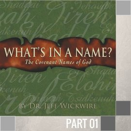 01(I010) - Elohim And Jehovah CD WED 7PM