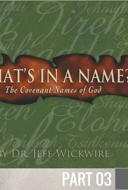 03 - El-Shaddai By Pastor Jeff Wickwire | LT01098