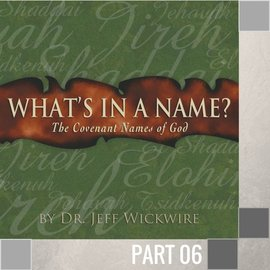 06(I015) - Jehovah-Rophe CD WED 7PM