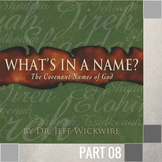 TPC - CD 08(I017) - Jehovah-M Kaddesh - Jehovah Who Sanctifies CD WED