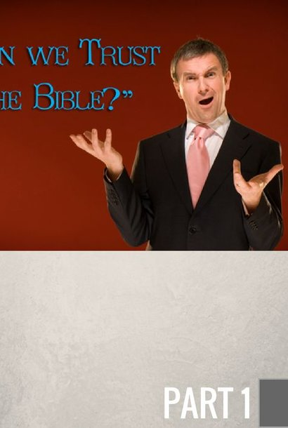 01(C015) - Can We Trust The Bible? CD WED