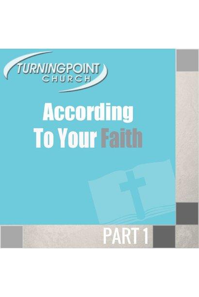 00(NONE) - According To Your Faith CD SUN