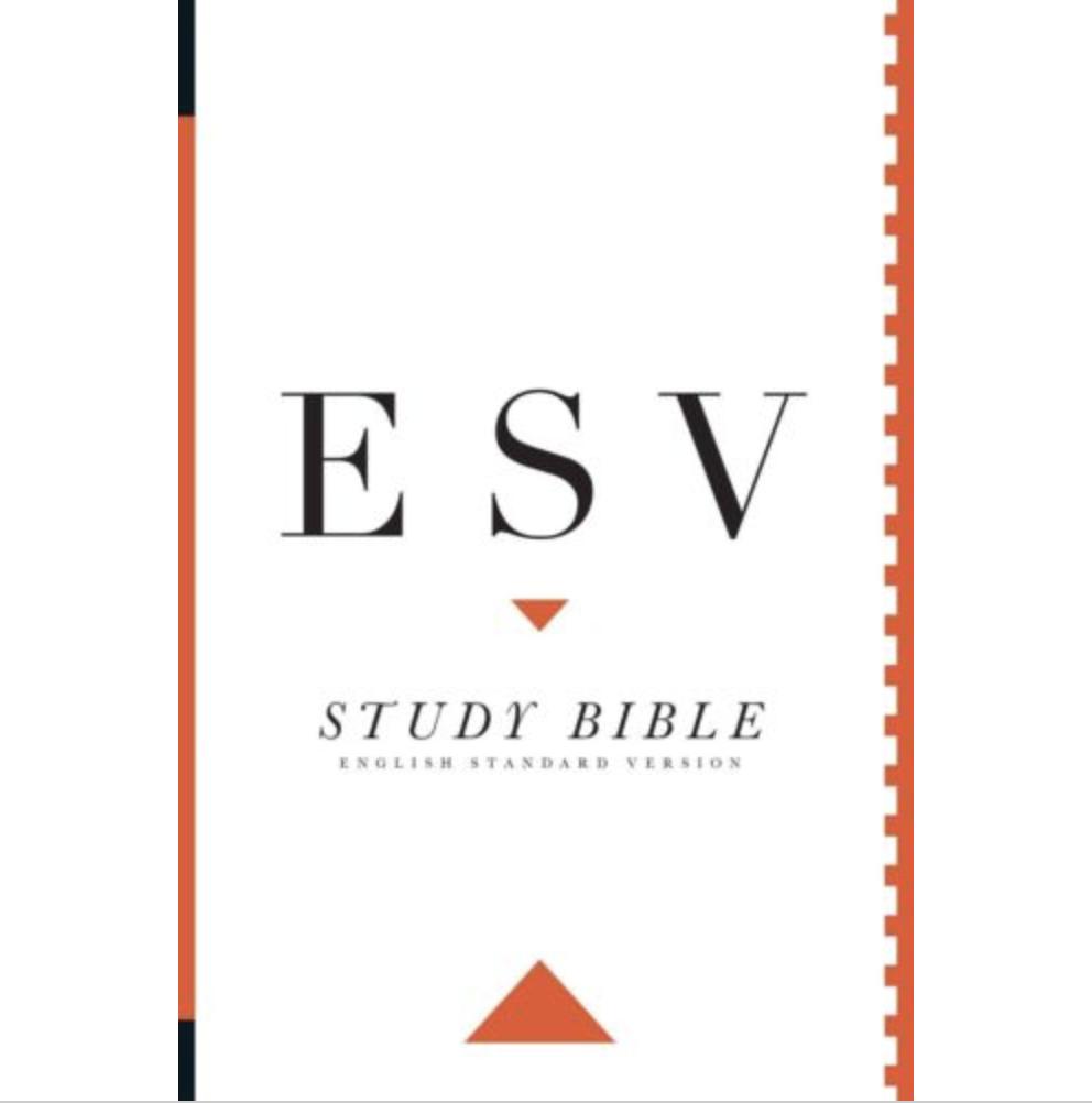 Bible ESV Study Bible Personal Size PaperBack White