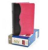 Bible NIV Study Bible Personal Italian Duo-Tone Charcoal / Pink