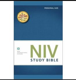 Bible NIV Study Bible Personal PaperBack Blue