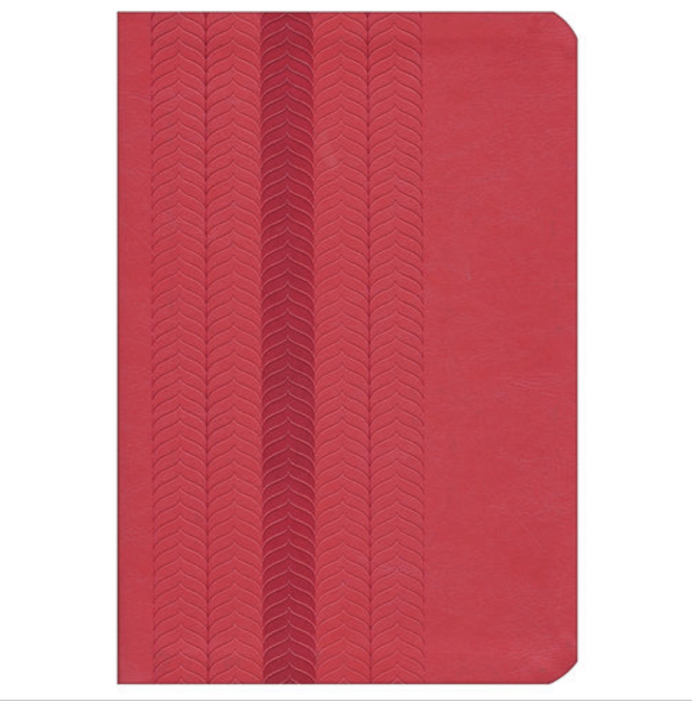 Bible NKJV Study Bible Standard Size LeatherSoft Coral Sheen