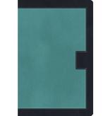 Bible NKJV Study Bible Standard Size LeatherSoft Rich Turquoise / Rich Midnight Blue