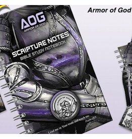 Books Notebook - Armor Of God Scripture Notes - Violet/Black