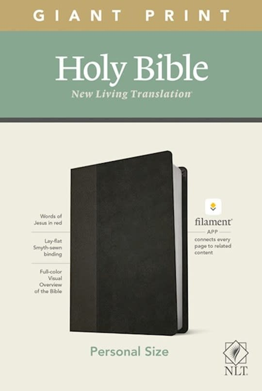 Bible NLT - Personal Size Giant Print Bible - Filament Enabled Edition - Onyx Leatherlike