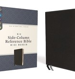 Bible NIV Side-Column Reference Bible Wide Margin - Black Leather Soft