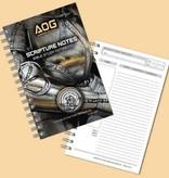 Books Notebook - Armor Of God Scripture Notes - Gold/Black