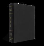 Bible ESV Study Bible Standard Size Genuine Leather Black Indexed