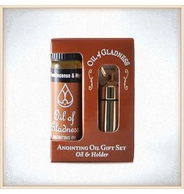 Gold Tone Gift Set Oil Holder