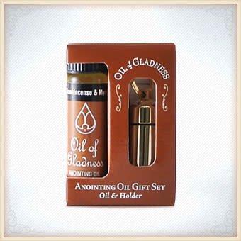 Gold Tone Gift Set Oil Holder-1