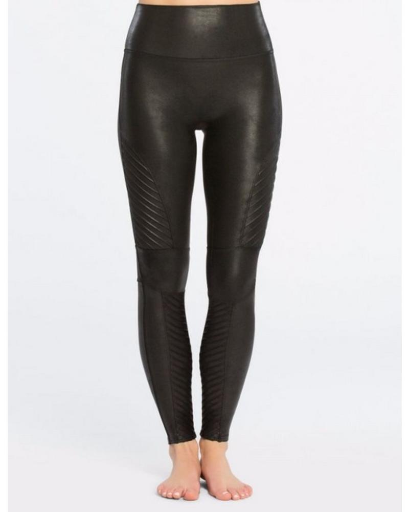 Spanx Faux Leather Moto Leggings Black